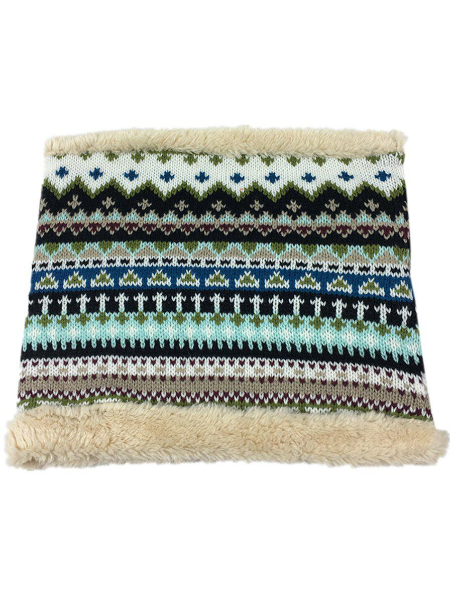 Store Outdoor Outdoor Ethnic Style Thicken Knitted Infinity Loop Scarf