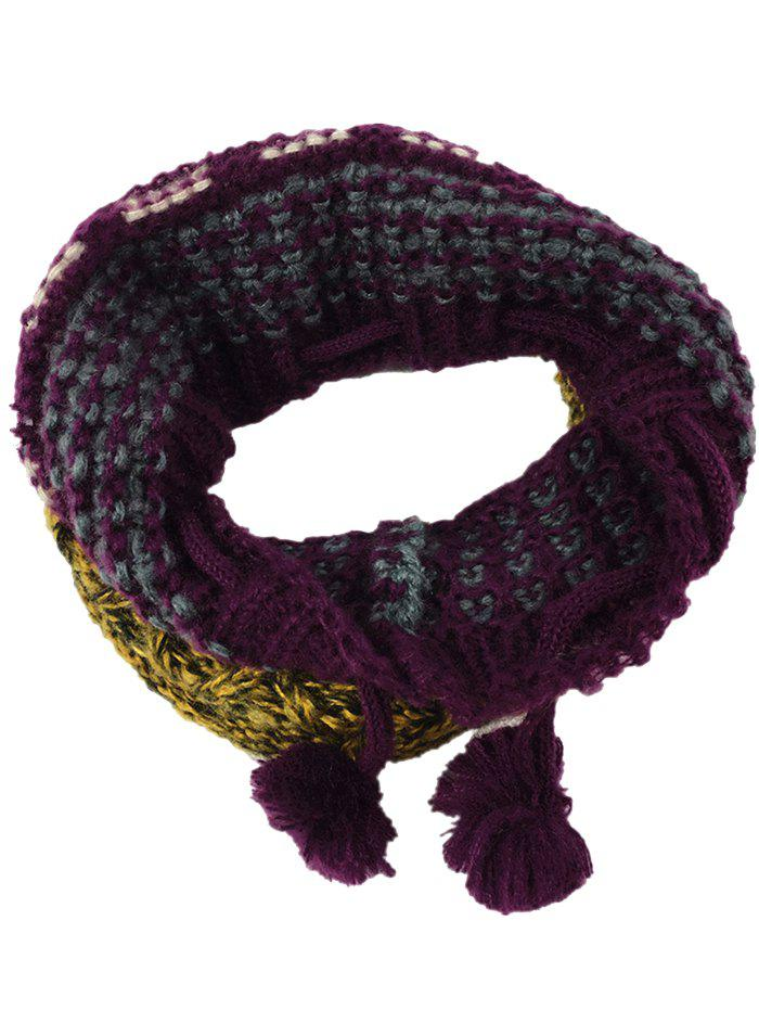 Chic Outdoor Colormix Pattern Chunky Knitted Infinity Scarf