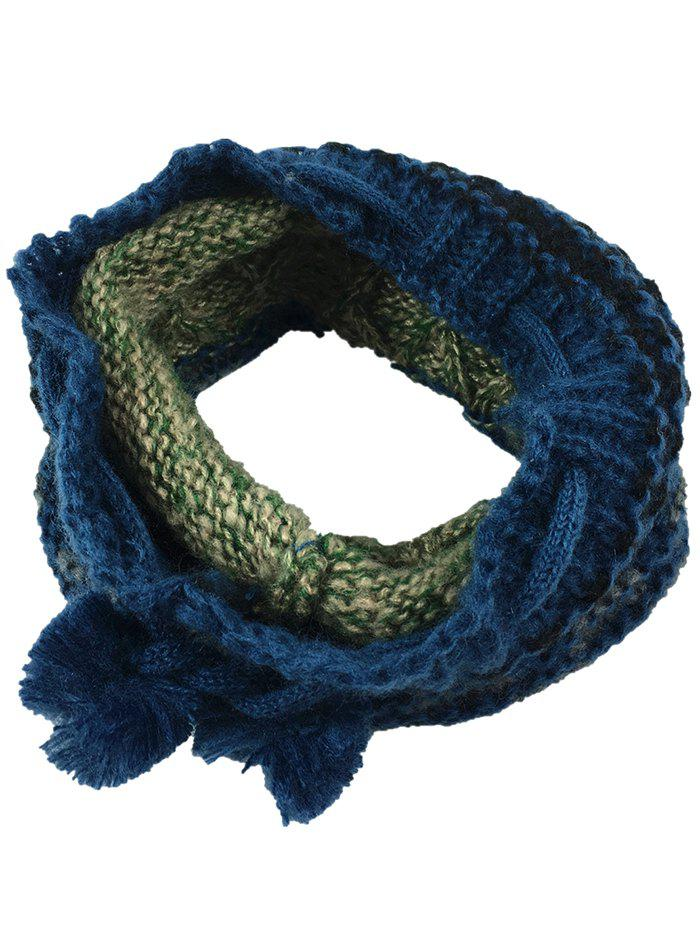 Discount Outdoor Colormix Pattern Chunky Knitted Infinity Scarf