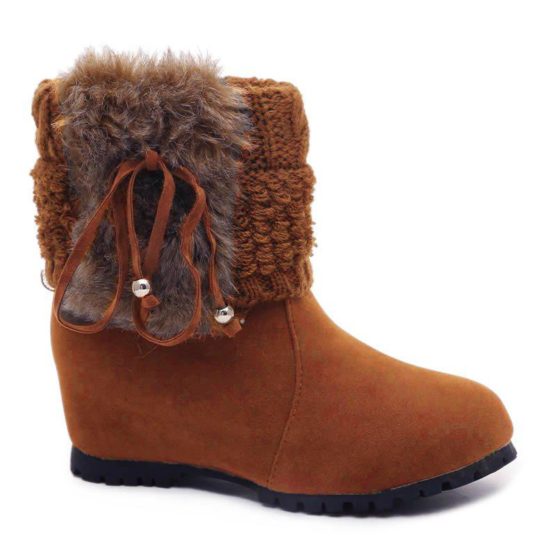 Cheap Flat Heel Round Toe Snow Boots
