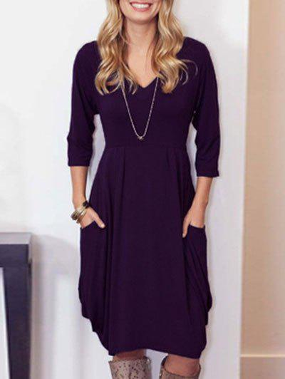 Sale V-neck Casual Baggy Dress