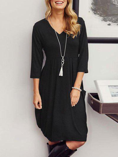 Outfit V-neck Casual Baggy Dress