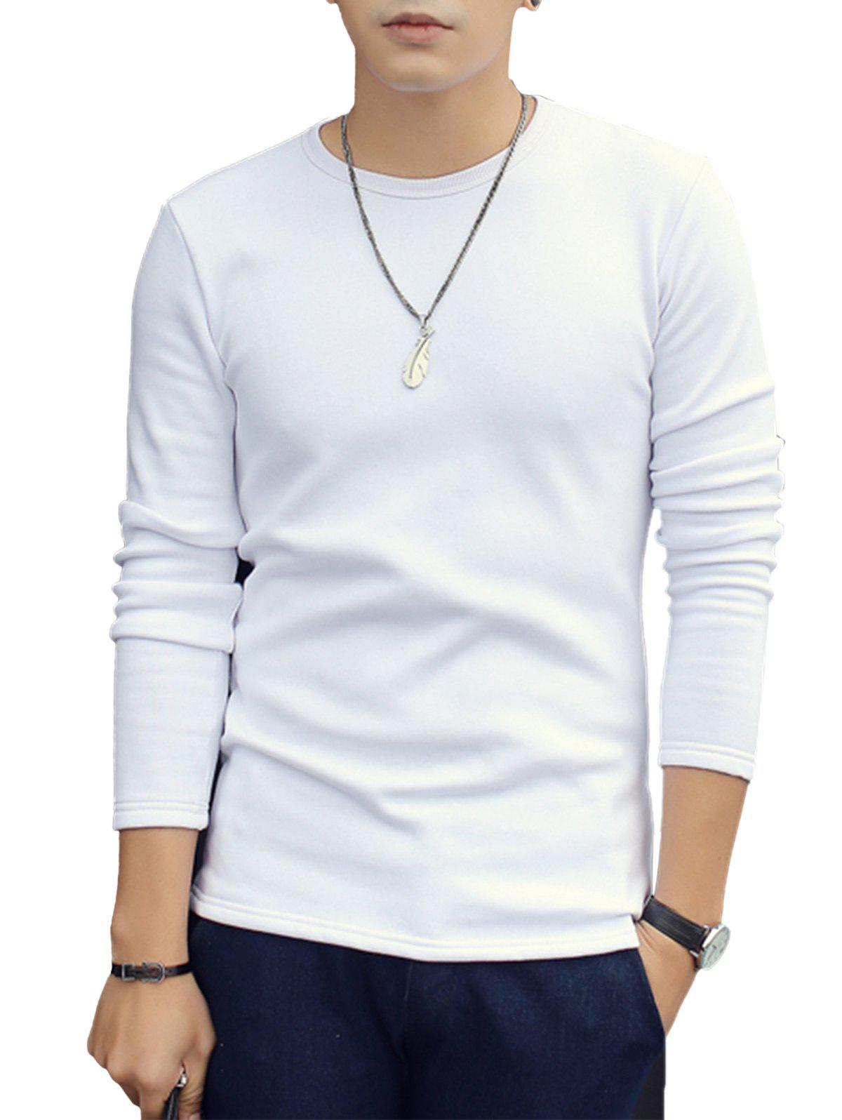 Outfits Crew Neck Thermal Long Sleeve T-shirt