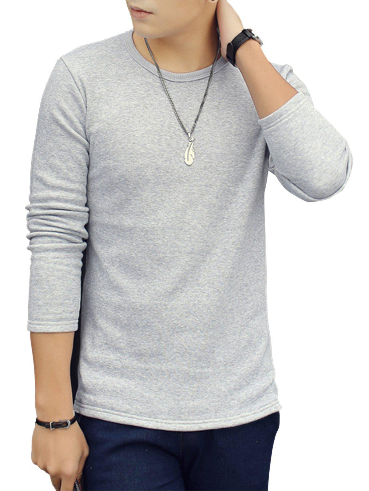 Online Crew Neck Thermal Long Sleeve T-shirt