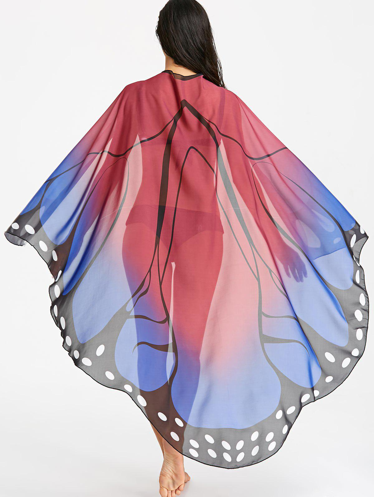 Affordable Butterfly See Through Flowy Beach Throw