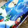 Christmas Snowscape Print Waterproof Fabric Table Cloth -