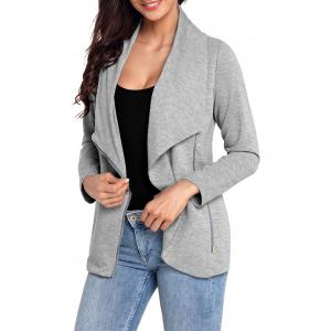 Turndown Collar Zipped Jacket -