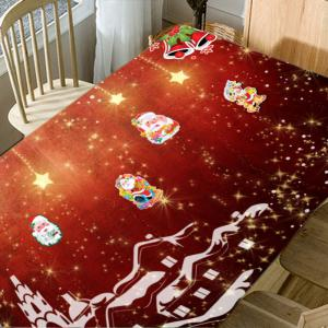 Christmas Town Santa Claus Pattern Waterproof Table Cloth -