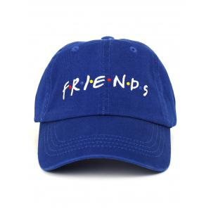 Outdoor FRIENDS Pattern Embroidery Adjustable Baseball Hat -