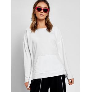 Bow Tied Cut Out Asymmetrical Sweatshirt -