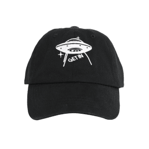 Funny UFO Pattern Decoration Adjustable Baseball Hat -
