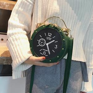 Alarm Clock Shape One Shoulder Crossbody Bag -