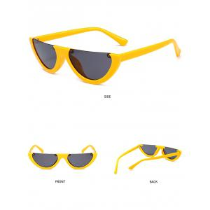 Vintage Half Frame Decoration Sun Shades Cat Eye Sunglasses -