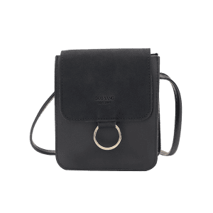 Small Crossbody Bag with Metal Hoop -