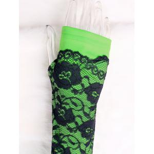 Lace Panel Fingerless Arm Warmers -