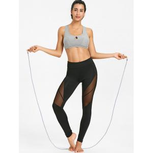 Slim See Through Mesh Panel Yoga Tights -