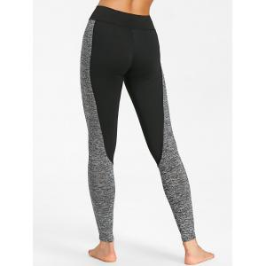Two Tone High Rise Sports Leggings -