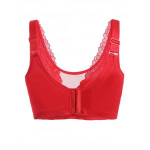 Lace Insert Full Cup Plus Size Bra -