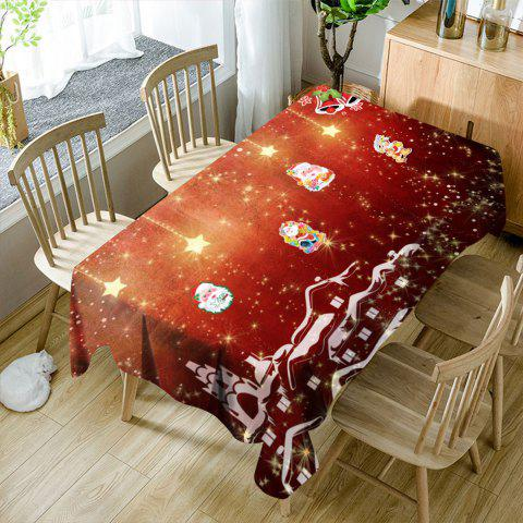 Cheap Christmas Town Santa Claus Pattern Waterproof Table Cloth