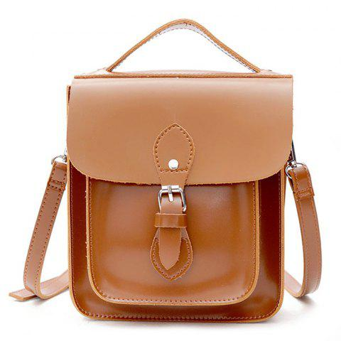 Latest Belt Buckle Closure Small Square Crossbody Bag