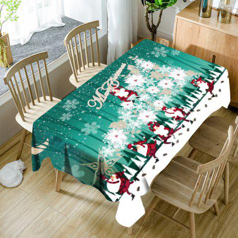 Outfit Abstract Christmas Tree Santa Claus Printed Waterproof Table Cloth