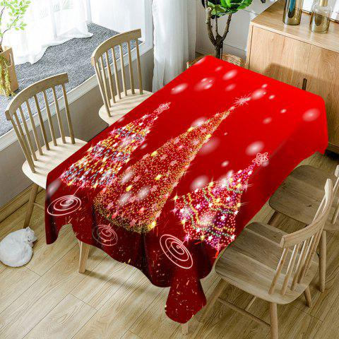 Discount Three Sparkling Christmas Trees Printed Waterproof Table Cloth
