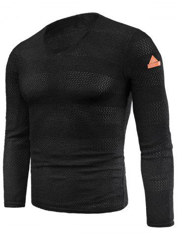 Buy V Neck Long Sleeve Fleece Knitted T-shirt