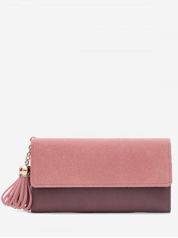 Best Long Frosted Wallet with Tassel Pendant