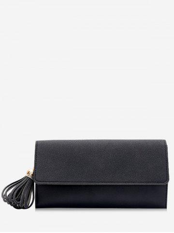 Fashion Long Frosted Wallet with Tassel Pendant