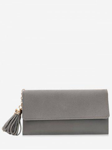 Buy Long Frosted Wallet with Tassel Pendant