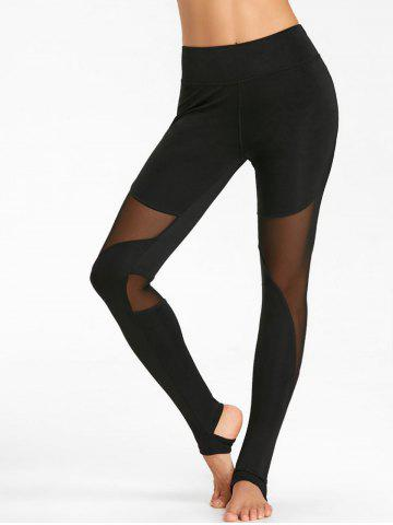 Leggings d'entraînement transparents avec empiècement en filet