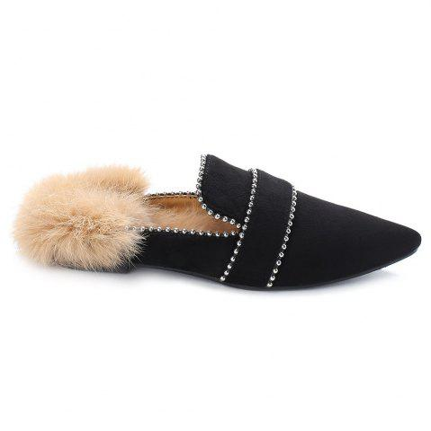 Outfit Faux Fur Pointed Toe Outdoor Slippers