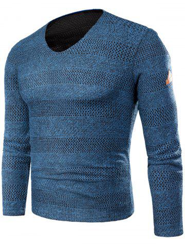 Discount V Neck Long Sleeve Knitted T-shirt