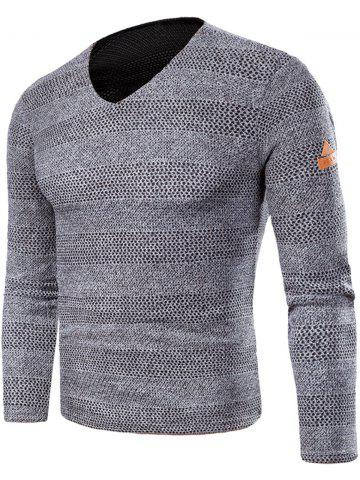 Online V Neck Long Sleeve Knitted T-shirt