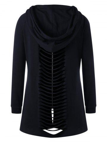 Best Plus Size Shredding Tunic Hoodie