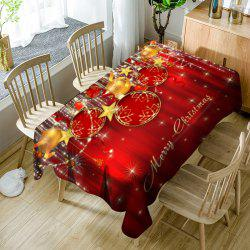 Christmas Ornaments Printed Waterproof Table Cloth - Red - W60 Inch * L84 Inch