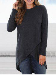 High Low Overlap Tunic Top -