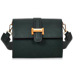 Fake Belt Buckle Embellished Rectangle Crossbody Bag -