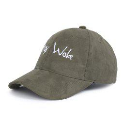 Outdoor Stay Work Pattern Embroidery Adjustable Baseball Hat -