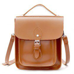 Belt Buckle Closure Small Square Crossbody Bag -