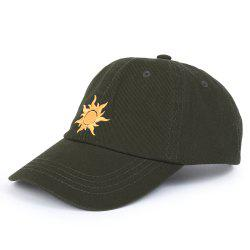 Cartoon Sun Pattern Embroidery Baseball Cap -