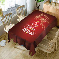 Merry Christmas Sparkling Deer Printed Waterproof Table Cloth -