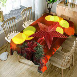 Christmas Tree Star Topper Printed Waterproof Table Cloth -