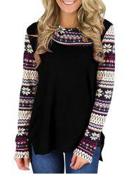 Snowflake Printed Long Sleeve T-shirt -