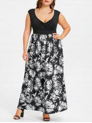 Plus Size Floral Empire Waist Maxi Dress -