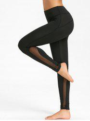 Mesh Panel Workout Tights -