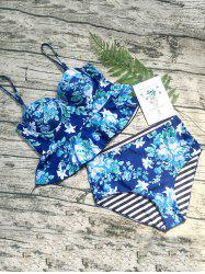 Floral Underwire Peplum Swimsuit -
