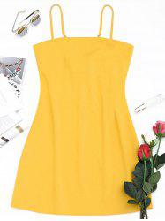 Tied Bowknot Back Mini Spaghetti Strap Dress -