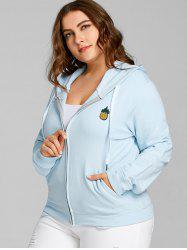 Pineapple Patch Plus Size Zip Hoodie -