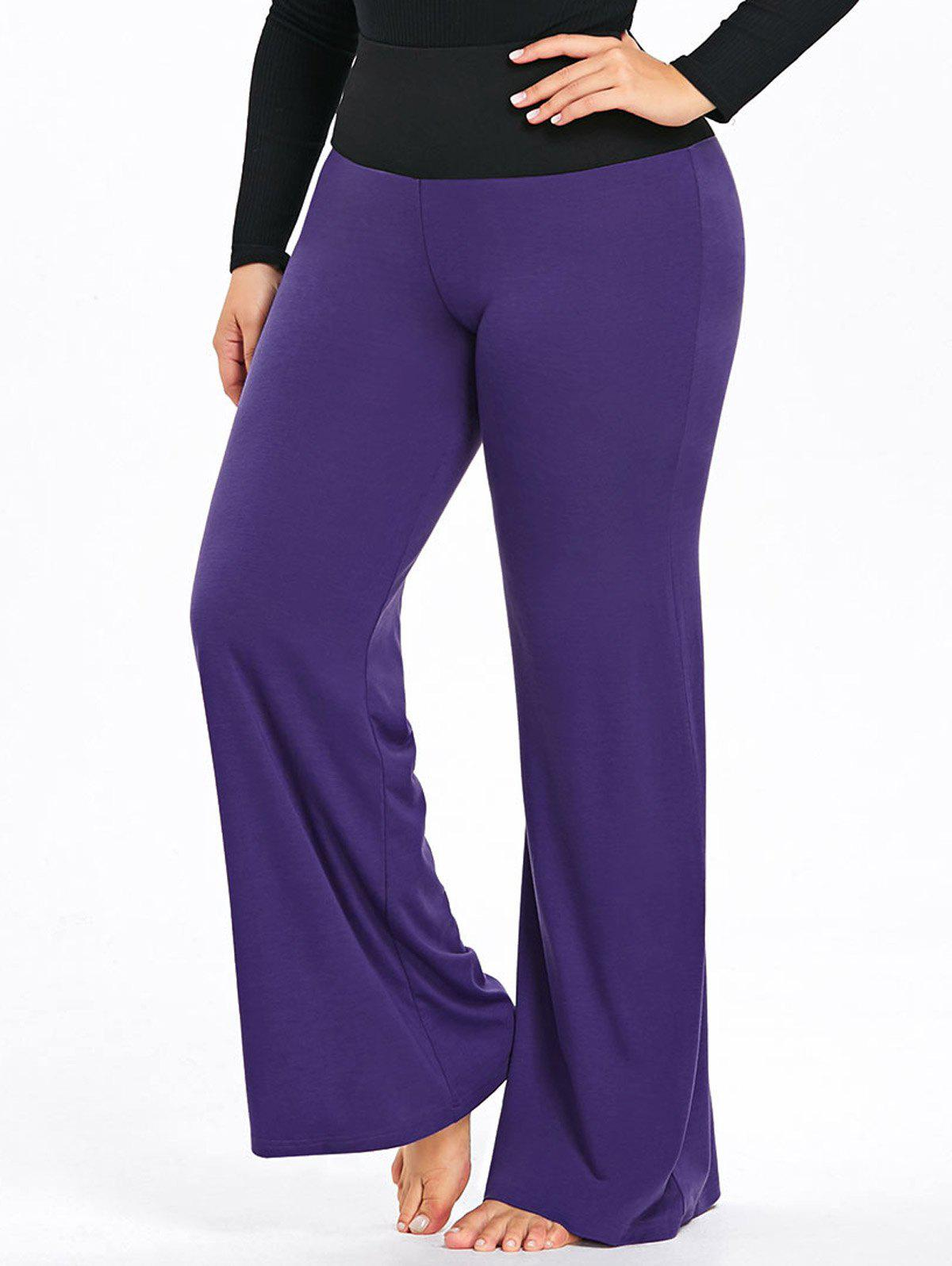 Buy Plus Size Two Tone High Waisted Palazzo Pants